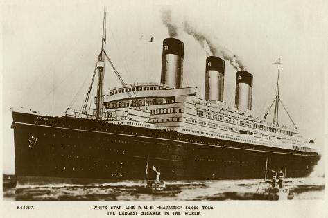 RMS Majestic, White Star Line Steamship, C1920S Giclee Print