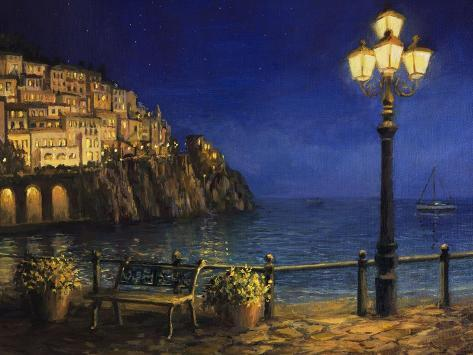 Summer Evening In Amalfi Art Print