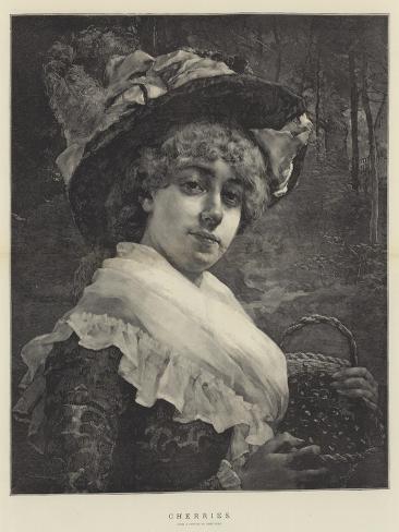 Kirsikat Giclée-vedos