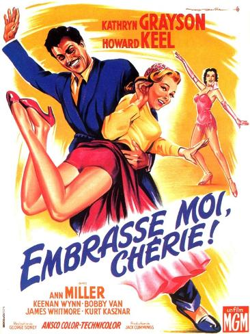 Kiss Me Kate, French Movie Poster, 1953 Art Print