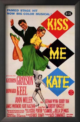 Kiss Me Kate Impressão artística emoldurada
