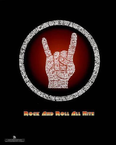 Kiss Rock And Roll All Nite Lyrics Music Poster Print Mini