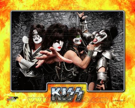 Kiss- Tommy Thayer, Paul Stanley, Eric singer, & Gene Simmons Photo