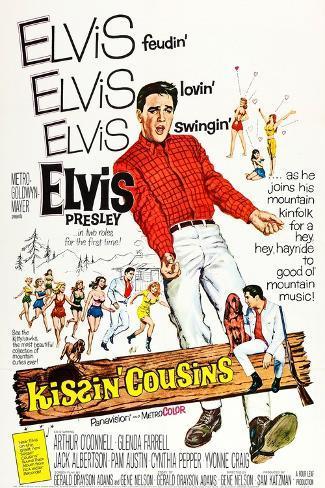 Kissin' Cousins Konstprint