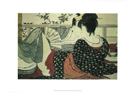 Kitagawa Utamaro (The Lovers) Art Poster Print Poster