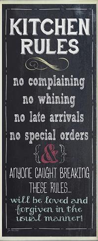 Kitchen Rules Chalkboard Look Kitchen Wall Plaque Wood Sign
