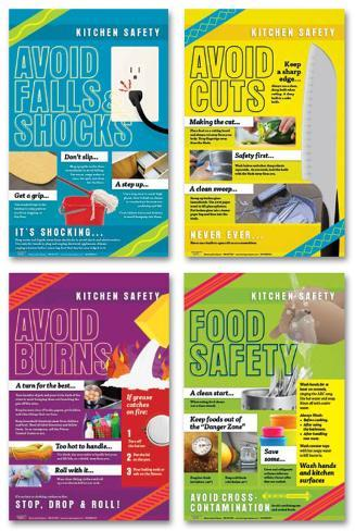 Kitchen Safety Poster Set Posters Allposters Ca
