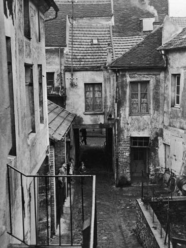 Back View of the House at Corneilles-En-Parisis Where Daguerre was Born Photographic Print