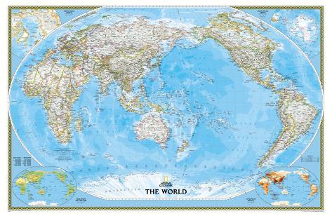 Klassieke wereldkaart met grote oceaan als middelpunt poster bij klassieke wereldkaart met grote oceaan als middelpunt poster thecheapjerseys Images