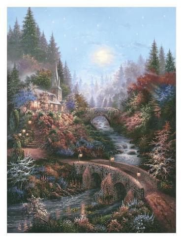 Moonlight Grace Art Print