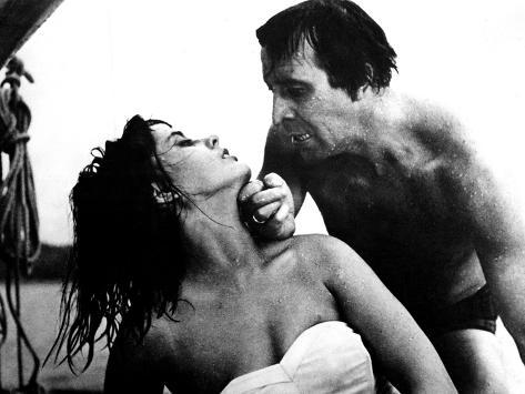 Knife In The Water, Jolanta Umecka, Leon Niemczyk, 1962 Stretched Canvas Print