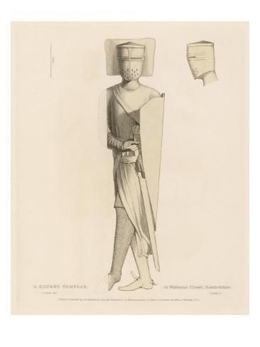 Knight Templar Effigy Lámina giclée