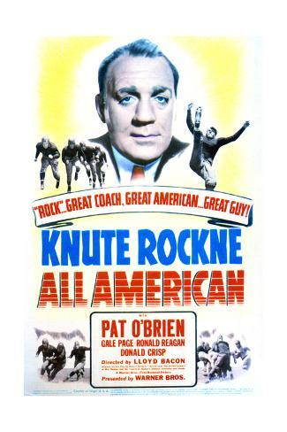Knute Rockne All American - Movie Poster Reproduction Art Print