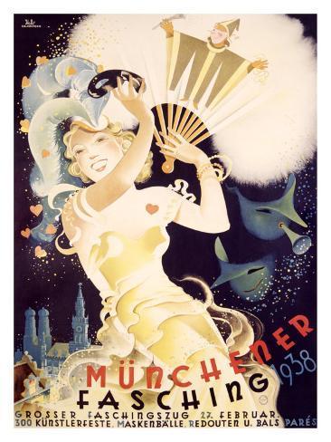 Munchener Fasching, 1938 Giclee Print