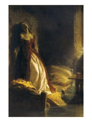 Tarakanova in the Flood Art Print