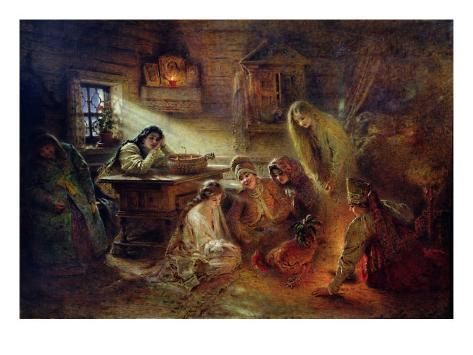 Christmas Fortune Telling Giclee Print