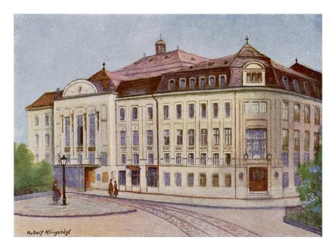 Konzerthaus in the Lothringerstrasse, Vienna Lámina giclée