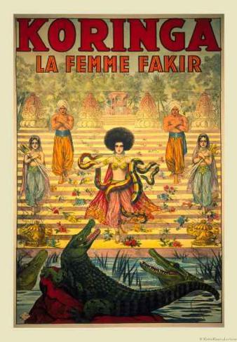 Koringa, La Femme Fakir Art Print