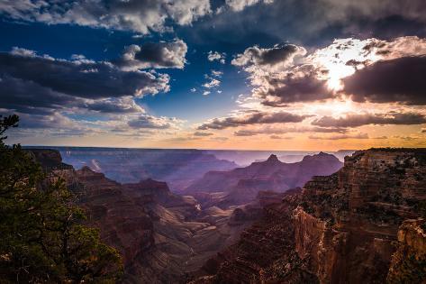 Grand Canyon North Rim Cape Royal Overlook At Sunset