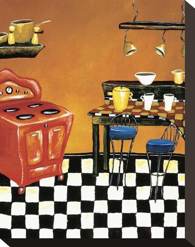 Retro Kitchen IV Stretched Canvas Print