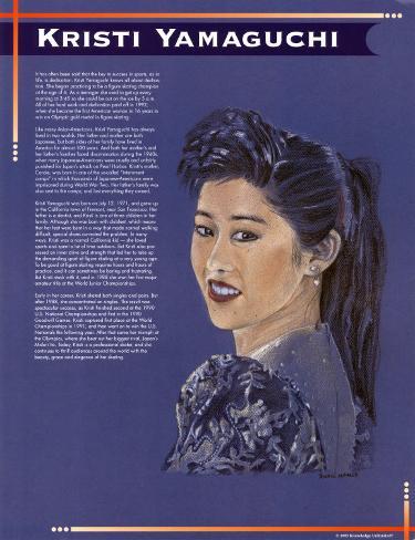 Kristi Yamaguchi Art Print