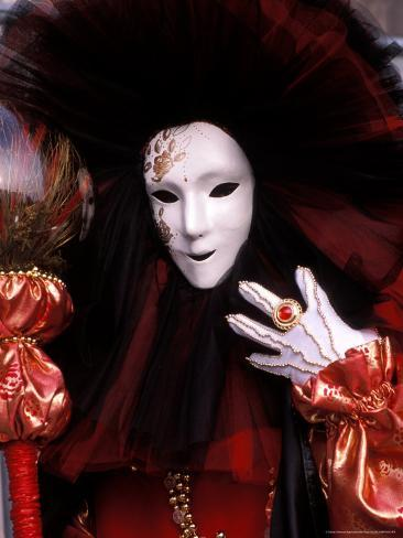 Costume and Mask, Venice Carnival, Italy Photographic Print