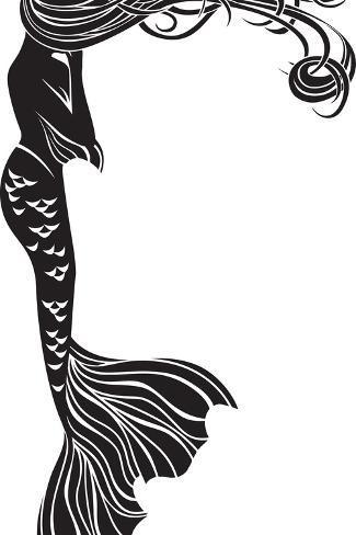 オールポスターズの kristina0702 crying mermaid stencil ポスター