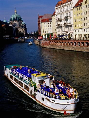 Cruise on Spree River with Berlin Cathedral (Berliner Dom) in Background, Berlin, Germany Photographic Print