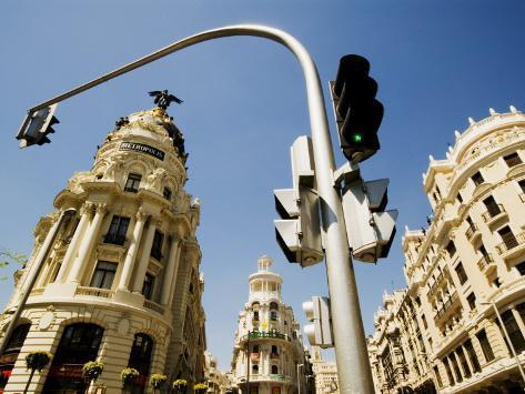Edificio Metropolis, Madrid, Comunidad de Madrid, Spain Photographic Print