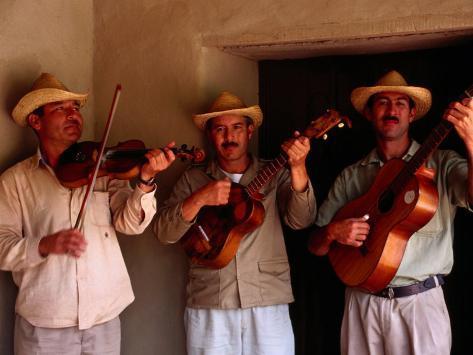 Folk Musicians at Los Aleros Theme Park, Merida, Venezuela Photographic Print