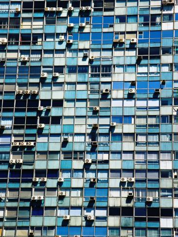 Massive Residential Building on Plaza Independence, Montevideo, Uruguay Photographic Print