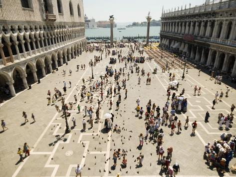 Piazzetta San Marco from Terrace of Basilica Di San Marco Photographic Print