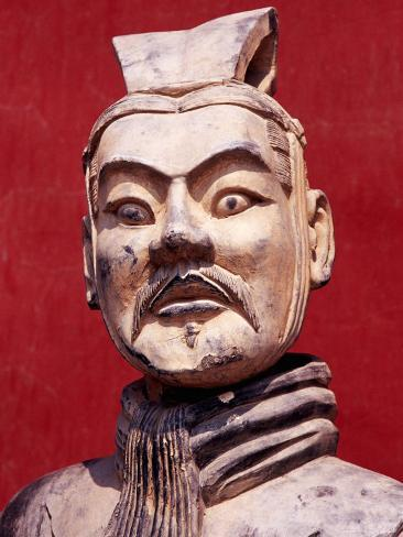 Replica Terracotta Warrior Outside Drum Tower, Beijing, China Photographic Print