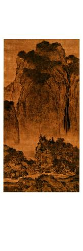Travelling Among Streams and Mountains, Hanging Scroll, Ink on Silk, c. 1000, China Giclee Print