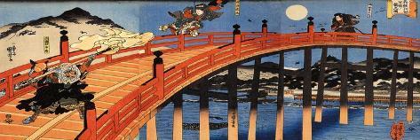 The Moonlight Fight Between Yoshitsune and Benkei on the Gojobashi Giclee Print