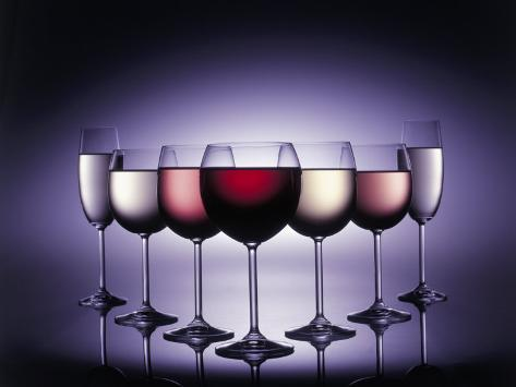 Glasses of Wine Photographic Print
