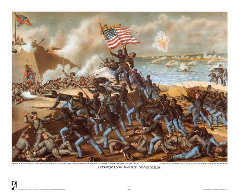 Storming Fort Wagner Art Print