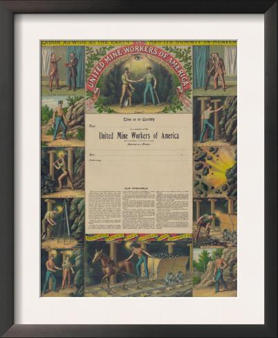 United Mine-Workers of America, c.1899 Framed Art Print