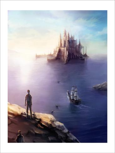Castle on the Sea Giclee Print