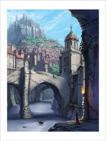 Castle over the Town Giclee Print