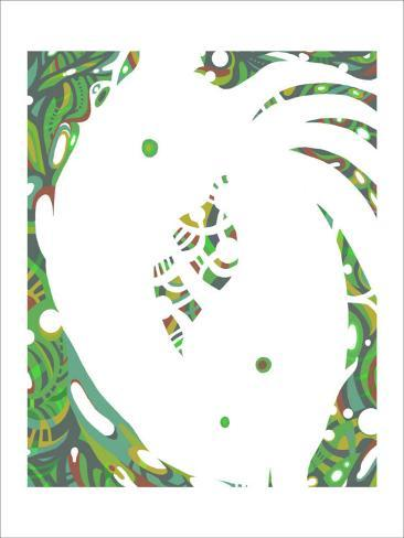 Color Melody: July Energetic Leaf and Fresh Green Light and the Dripping Giclee Print