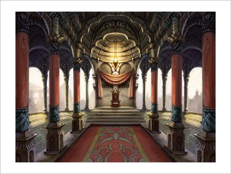 Inside the Castle of the Orient: The King Who Sits on the Throne Giclee Print