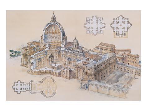 Rome, St. Peter's Basilica Art Print