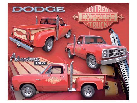 L'il Red Express Truck Premium Giclee Print