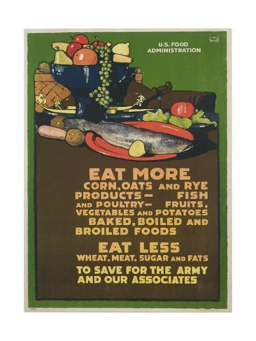 Eat More Corn, Oats and Rye Poster Giclee Print