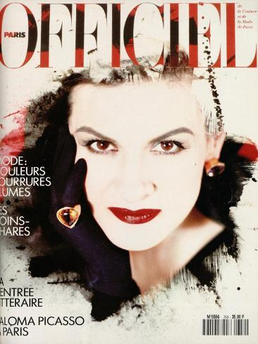L'Officiel, October-November 1990 - Paloma Picasso Art Print