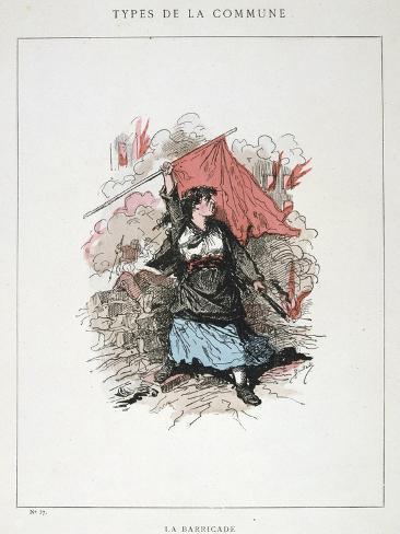 La Barricade, Paris Commune, 1871 Giclee Print