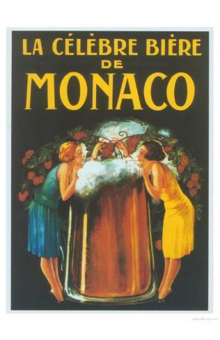 La Celebre Biere de Monaco Art Print