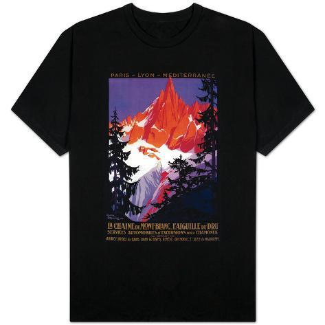 La Chaine De Mont Blanc Vintage Poster Europe Shirt