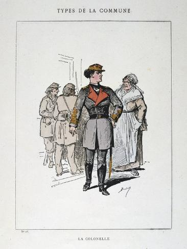 La Colonelle, Paris Commune, 1871 Giclee Print